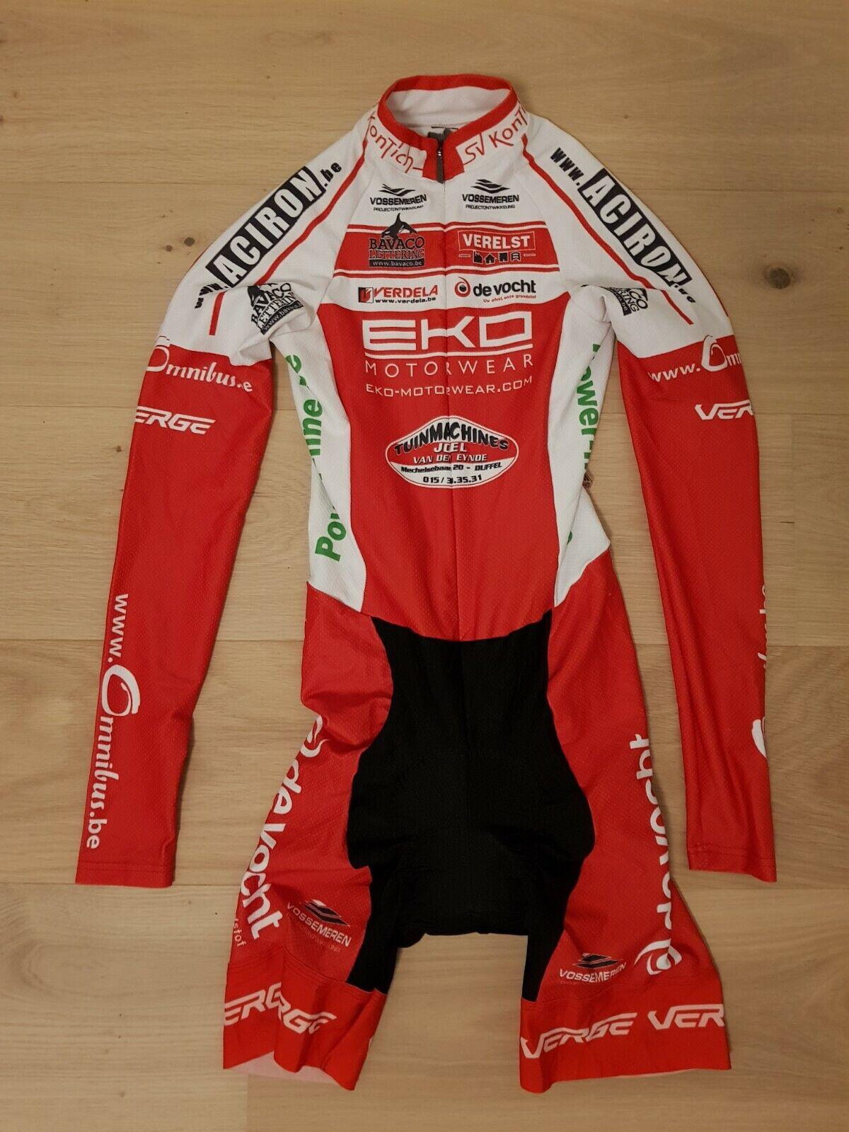 VERGE Strike Lange Sleeve Cycloop Snelheidspak Time Trial TT Vrouwen 65533;-65533s Grootte XS