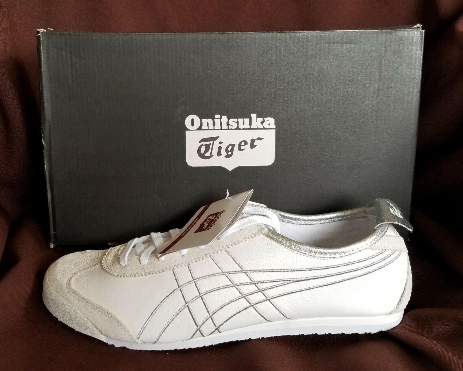 Asics Onitsuka Tiger Mexico 66 blancoo Plata Retro Zapatos  2 o 11 Unisex
