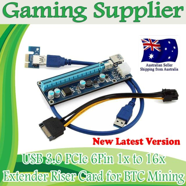 Pcie PCI-E 1x To 16x Extender Riser Card  Adapter BTC ETH USB 3.0 Cable