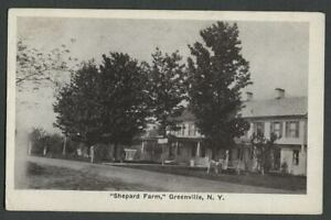 Greenville-NY-c-1920s-Postcard-SHEPARD-FARM-Resort-Boarding-House-Main-Building