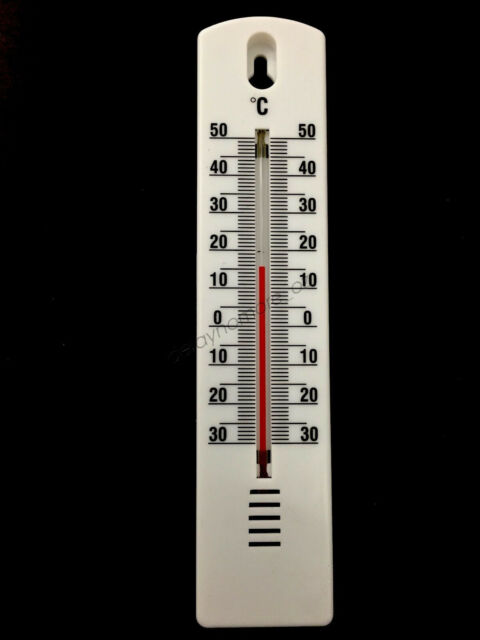2X Indoor Outdoor Thermometer Mercury Free Celsius Fahrenheit Reading Scale Home