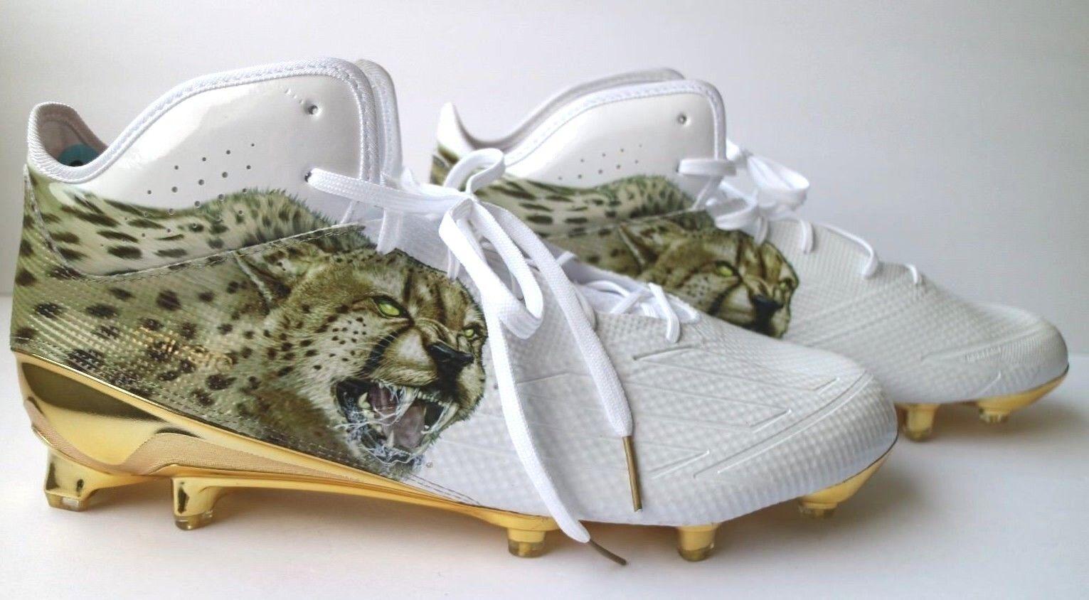 Adidas Adizero 5 Star 5.0 Uncaged Football Cleats Mens 16 Cheetah gold AQ7817