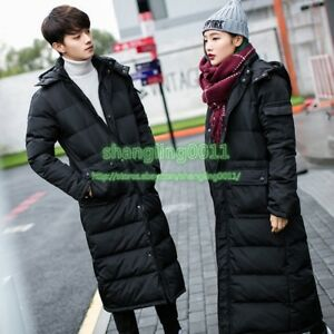 Mens-Hoodie-Down-Warm-Duck-Long-Puffer-Winter-Parka-Coats-Jackets-Long-Style-Top