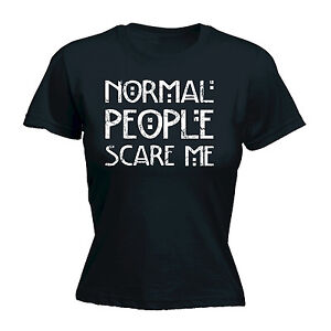 8d2a728e13435 NORMAL PEOPLE SCARE ME WOMENS T-SHIRT emo rude punk rock funny ...