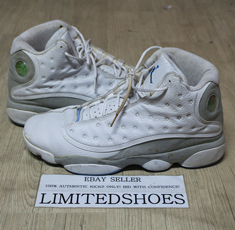 NIKE AIR JORDAN 13 XIII RETRO WHITE NEUTRAL GREY UNIVERSITY BLUE US11 310004-103 Comfortable and good-looking