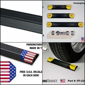 "Heavy Duty 21/"" Rubber Guide Block Parking Curb Car Wheel Stop Garage Driveway US"