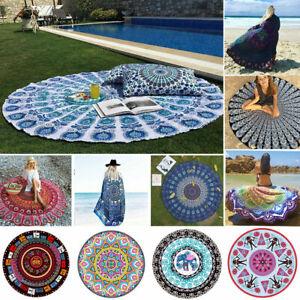 Round Beach Tapestry Rug Throw Yoga Mat
