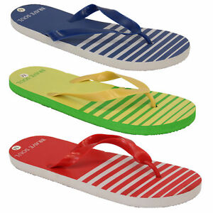 76d9c8bcc2699 Mens Flip Flops Brave Soul Slippers Beach Thong Holiday Striped ...