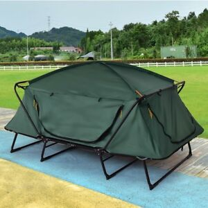 2 person folding elevated platform hiking camping tent canopy wigwam