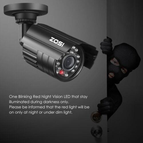 ZOSI 2 Outdoor Indoor Fake Surveillance Led Security Dummy Camera Sensor Motion