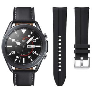 Samsung Galaxy Watch 3 45mm Smartwatch Mystic Black SM-R840NZKCXAR + Extra Band