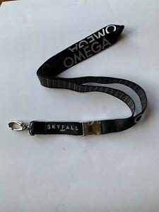 OMEGA Branded Lanyard - James Bond 007 Skyfall / Black with silver logo