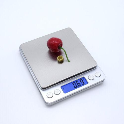 2Kg 0.1g LCD elettronico da cucina piccola scala CIBO DIETA TISANIERA equilibrio con Vassoio 2