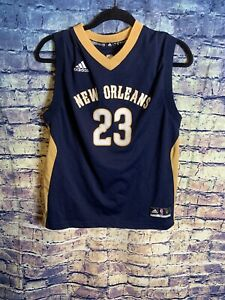reputable site 37f30 2da45 Details about Adidas New Orleans Pelicans Jersey Anthony Davis 23 Swingman  NBA Youth Large🔥