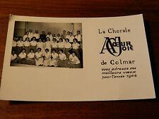CPA 1964 CARTE PHOTO alsace CHORALE de COLMAR ELSASS CHOR à coeur de joie