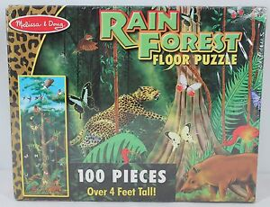 Details About Melissa And Doug 444 Rain Forest Floor Puzzle 100 Large Pieces Over 4 Feet