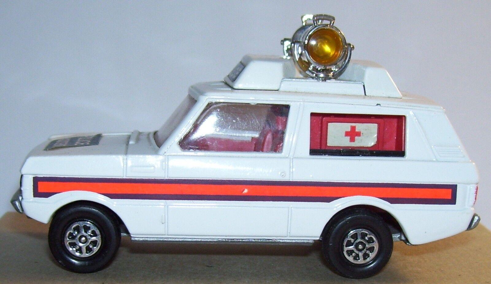RARE CORGI TOYS RANGE ROVER POLICE VIGILANT AMBULANCE CROIX ROUGE 1971 REF 461-1