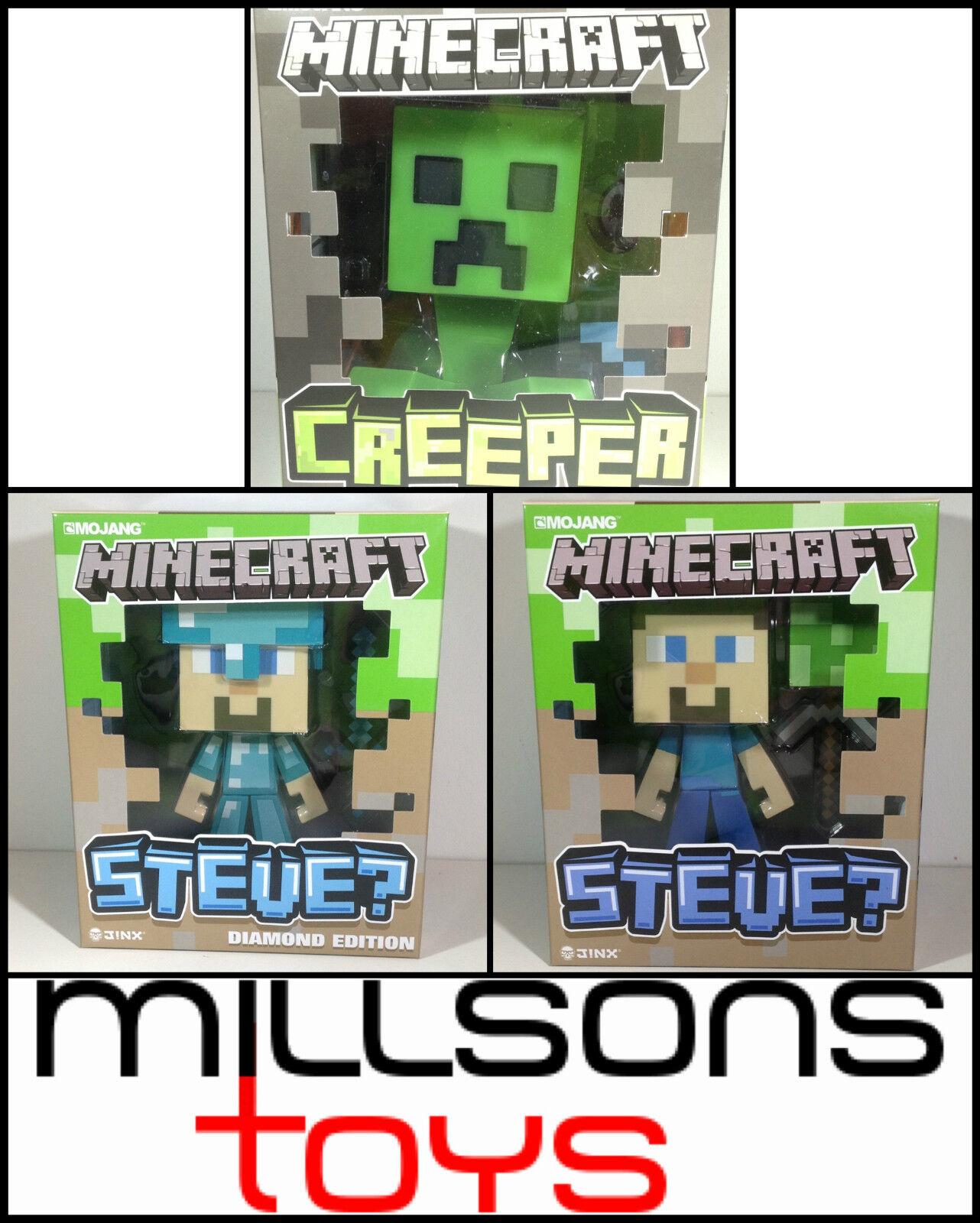 Minecraft REGUALR & DIAMANT STEVE, CREEPER - 15.2cm FIGUREN - Offiziell NEU
