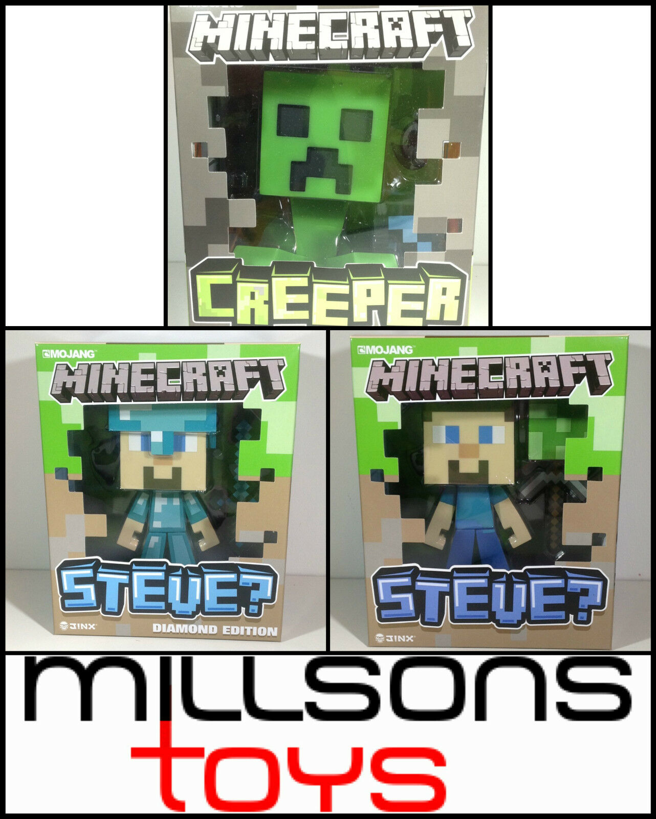 Minecraft regualr & diamant - niete - 15.2cm figuren - spanisch u.a. neu