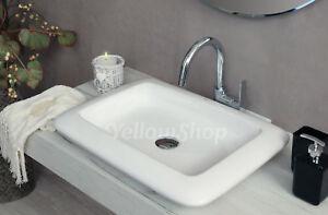 Lavabo cm da appoggio ceramica lavandino lavello sanitari
