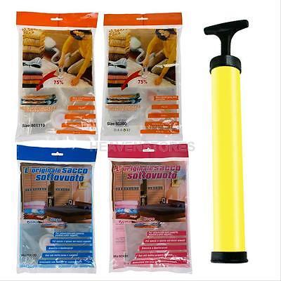 Air Vacuum Compressed Organizer Bags Space Saver Saving Storage Seal Bag Hanger