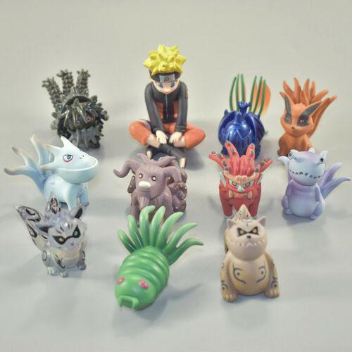 Figurine Naruto Shippuden  Bijuu Kyuubi Kurama lot de 11  4-6Cm