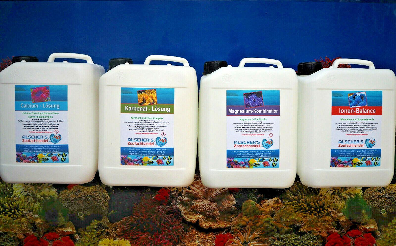 Calcium KH Magnesium Mineralien Balling Lösungen Wasseraufbereiter Salzwasser