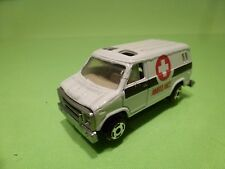 CHINA AMERICAN CHEVY  VAN  - AMBULANCE - WHITE + BLACK  - GOOD CONDITION