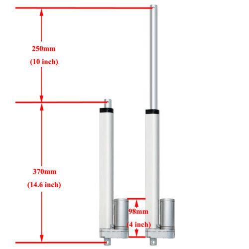 330lbs Electric 1500N Linear Actuator /&Brackets /&Wireless Motor Controller Kits