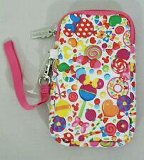 Cell Phone Wallet Soft Case MINNIE MICKEY MOUSE Pink Candy  DISNEY Park Gift