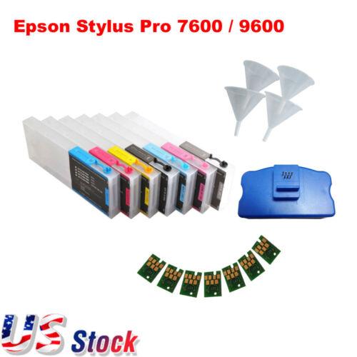 Etats-Unis - Cartouches d'encre rechargeables Combo E Stylus Pro 7600/9600 7pcs / kit - Kit
