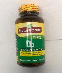 Nature Made Vitamin D3 1000 Iu 25mcg Liquid Softgels 300 Count Exp May 2022 Ebay