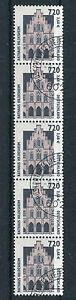 Bund-2197-R-5er-Streifen-gestempelt-SWK-Rollenmarken-Sehenswuerdigkeiten-Nr-275
