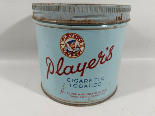 VINTAGE ADVERTISING PLAYERS CANADA ROUND TIN CANISTER TOBACCO