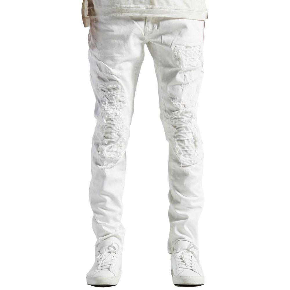 Embellish Becky Denim Jeans in Weiß