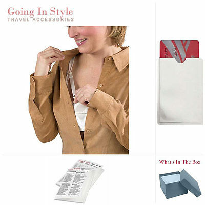 Bra Pocket Hidden Money Holder w/ RFID Card Sleeve Travel Set | Going In Style