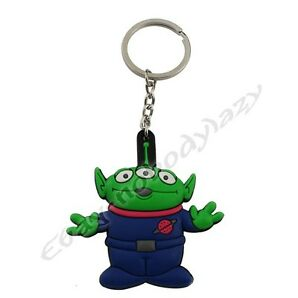 "Toy Story Squeeze Toy Alien 1.6""  Rubber Key Ring Chain"