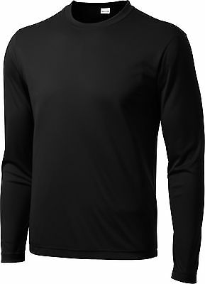 Dry Zone NEW Competitor Moisture Wicking Performance Mens Long Sleeve T-shirts