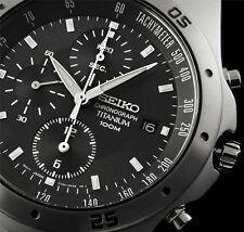 SEIKO Chronograph SND419P1 Orologio Crono Uomo Titanium Men's Watch