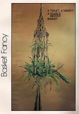 Double Decker Basket Holder Plant Hanger Pattern #7106 Wired for Macrame Book