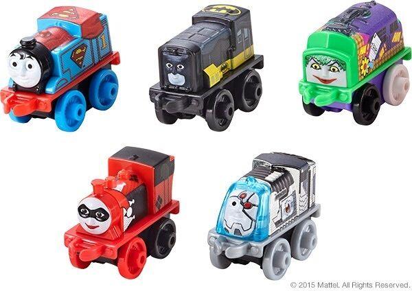 SDCC 2015 Exclusive Thomas & Friends Super Minis DC Harley Quinn Mattel MIB New