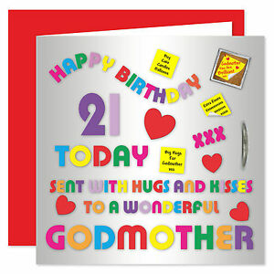 Image Is Loading Godmother Happy Birthday Card Age Range 18 60