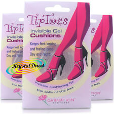 3 Pairs Carnation Tip Toes Invisible Gel Ball of Foot Cushions High Heel Insoles