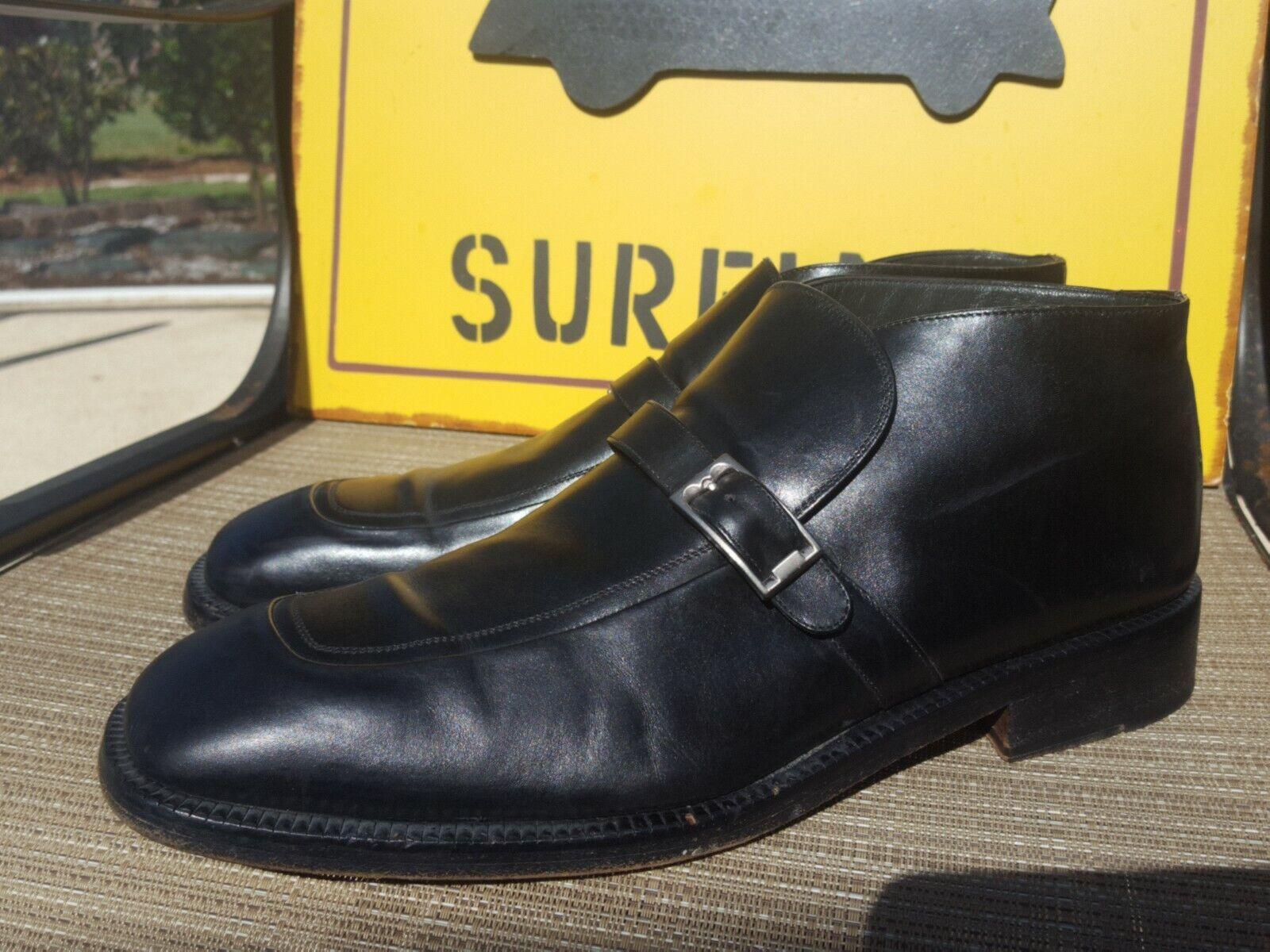Bally  Tiler  Buckle Slip On Beatle Square Toe Boots shoes. Size 12E USA. 11Eu