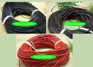 Round-Leather-Cord-Real-String-Lace-Thong-Necklace-1-5-2mm-for-Jewellery-Making