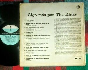 The Kinks Algo Mas Uruguay Only Back Cover Mod Antar Label