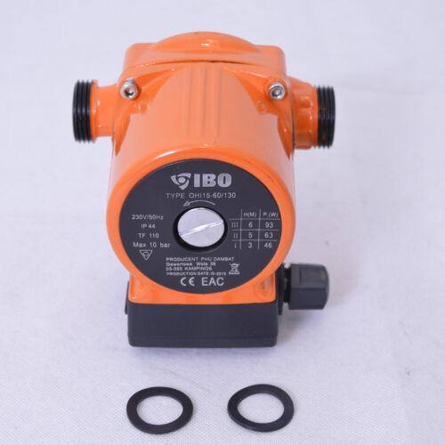 Dichtungen Warmwasser Heizung Umwälzpumpe Heizungspumpe IBO 15-60//130 Pumpe
