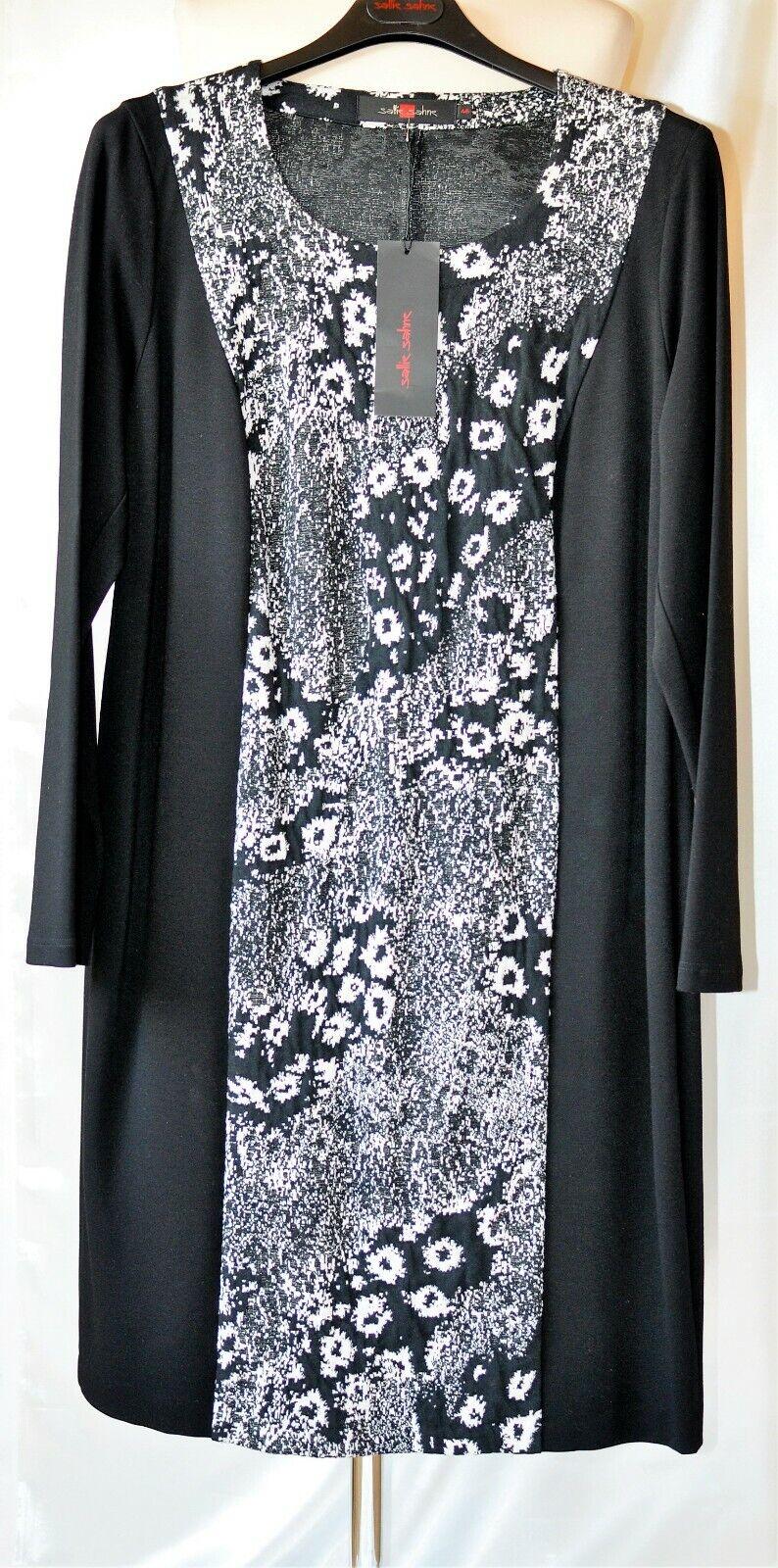Sallie Sahne Gr 46  Kleid JONES64  -  Ponte di Roma Jersey -  Schwarz   Weiß NEU