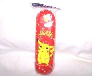 18,5 Cm,metall Stiftebox Schmal Neu,ovp,lizenz-rarität Rot Pikachu Pokemon
