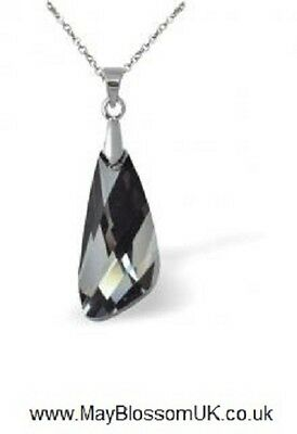 NEW! Byzantium Collection Black Crystal Wing Necklace/Pendant/Ideal Gift